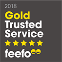 Feefo Gold Trusted Service Award 2018