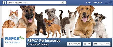 RSPCA Facebook Homepage